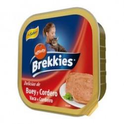 COMIDA TARRINA GATOS BREKKIES BUEY Y CORDERO, 100 GR